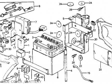 Honda Cm200t Twinstar 1980 a  Usa Side Cover   Battery