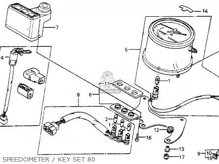 Honda Cm200t Twinstar 1980 a  Usa Speedometer   Key Set 80