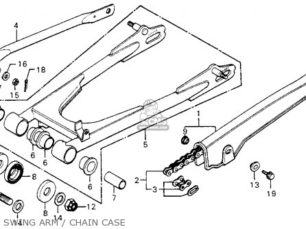 Honda Cm200t Twinstar 1980 a  Usa Swing Arm   Chain Case