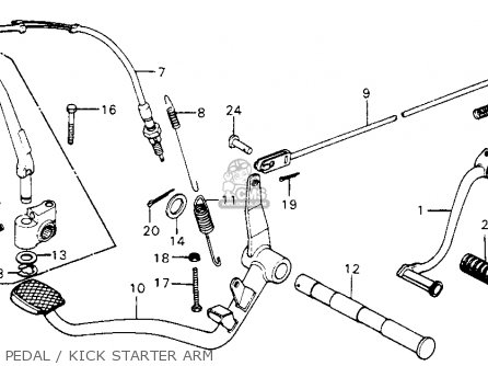 Honda Cm200t Twinstar 1980 Usa Pedal   Kick Starter Arm