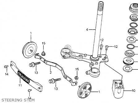 Honda Cm200t Twinstar 1980 Usa Steering Stem