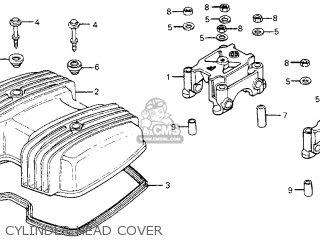 honda cm200t twinstar 1982 (c) usa parts lists and schematicscylinder head cover