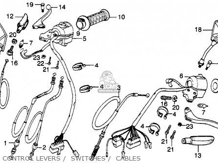 Honda Cm250c Custom 1983 d Usa California Control Levers    Switches    Cables