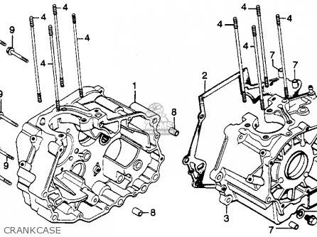 Honda Cm250c Custom 1983 d Usa California Crankcase