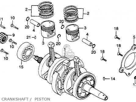 Honda Cm250c Custom 1983 d Usa California Crankshaft    Piston