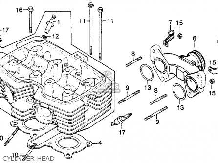Honda Cm250c Custom 1983 d Usa California Cylinder Head