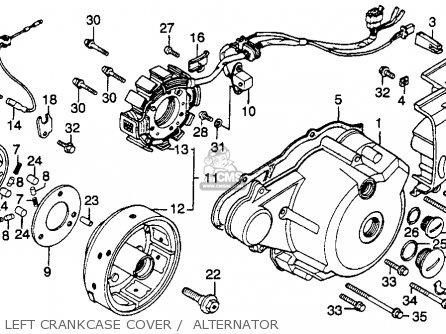 Honda Cm250c Custom 1983 d Usa California Left Crankcase Cover    Alternator