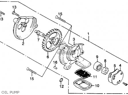 Honda Cm250c Custom 1983 d Usa California Oil Pump