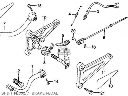 Honda Cm250c Custom 1983 d Usa California Shift Pedal    Brake Pedal