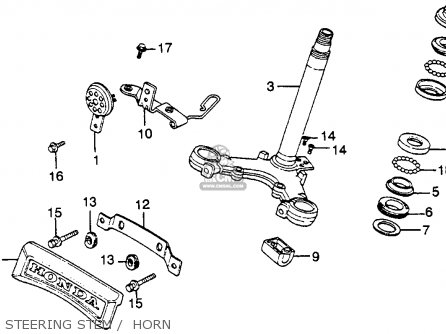 Honda Cm250c Custom 1983 d Usa California Steering Stem    Horn