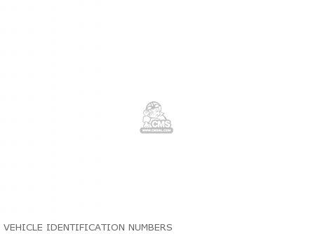 Honda Cm250c Custom 1983 d Usa California Vehicle Identification Numbers