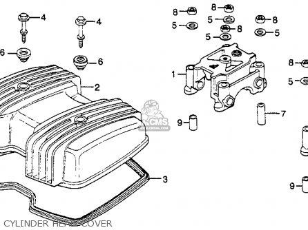 Honda Cm250c Custom 1983 d Usa Cylinder Head Cover