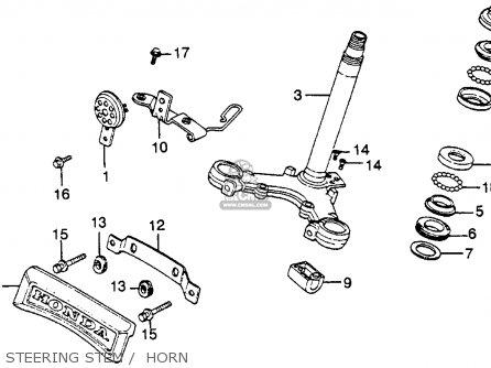 Honda Cm250c Custom 1983 d Usa Steering Stem    Horn