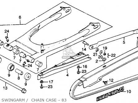 Honda Cm250c Custom 1983 d Usa Swingarm    Chain Case - 83