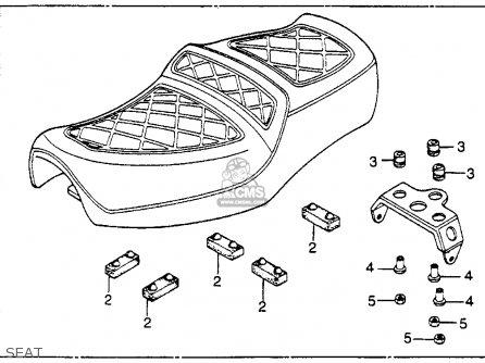 Honda Cm250c Custom 1983 Usa Seat