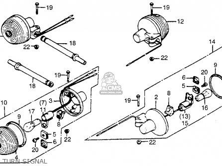 honda cm400a hondamatic 1981 usa parts list partsmanual