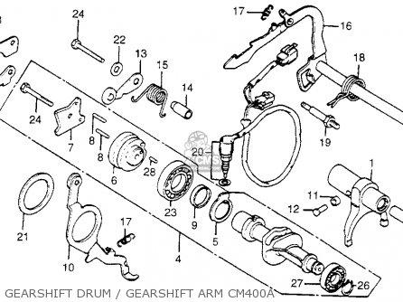 honda cm400c custom 1979  z  usa parts list partsmanual