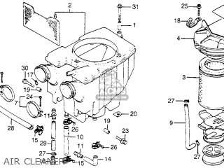 Honda Cm400t 1981 b Usa Air Cleaner