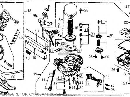Honda Cm400t 1981 b Usa Carburetor Cm400a t 80-81
