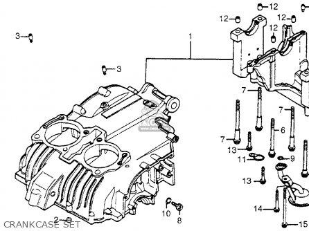 Honda Cm400t 1981 b Usa Crankcase Set