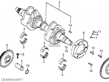 Honda Cm400t 1981 b Usa Crankshaft