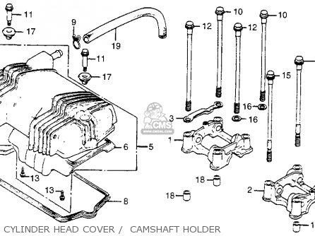 Honda Cm400t 1981 b Usa Cylinder Head Cover    Camshaft Holder