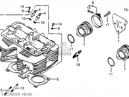 Honda Cm400t 1981 b Usa Cylinder Head