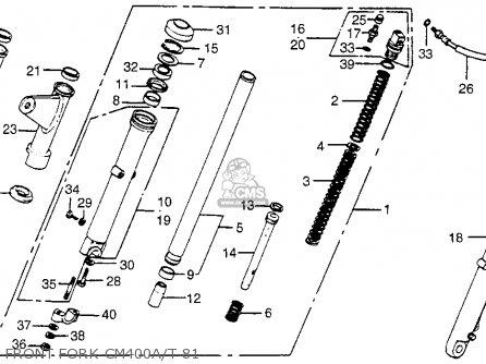 Honda Cm400t 1981 b Usa Front Fork Cm400a t 81