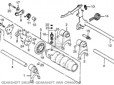 Honda Cm400t 1981 b Usa Gearshift Drum   Gearshift Arm Cm400c t