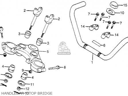 Honda Cm400t 1981 b Usa Handlebar   Top Bridge