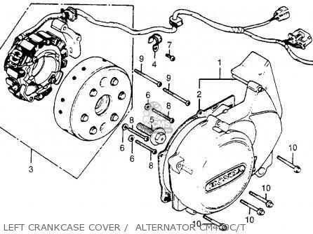 Honda Cm400t 1981 b Usa Left Crankcase Cover    Alternator Cm400c t