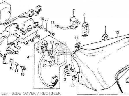 Honda Cm400t 1981 b Usa Left Side Cover   Rectifier