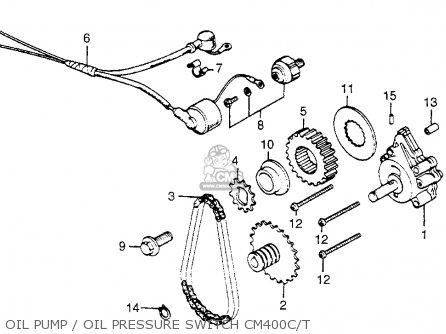 Honda Cm400t 1981 b Usa Oil Pump   Oil Pressure Switch Cm400c t
