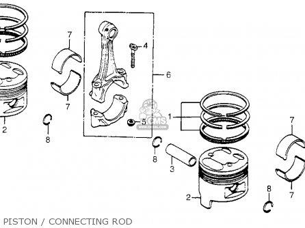 Honda Cm400t 1981 b Usa Piston   Connecting Rod