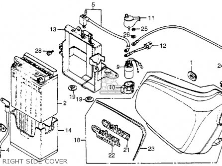 Honda Cm400t 1981 b Usa Right Side Cover