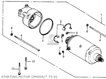 Honda Cm400t 1981 b Usa Starting Motor Cm400a t 79-81