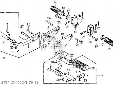 Honda Cm400t 1981 b Usa Step Cm400c t 79-81