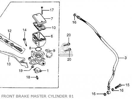 Honda Cm400t 1981 Usa Front Brake Master Cylinder 81
