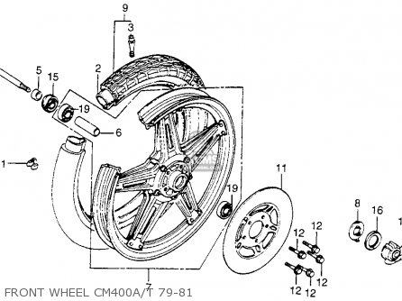 Honda Cm400t 1981 Usa Front Wheel Cm400a t 79-81