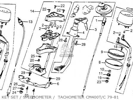 Honda Cm400t 1981 Usa Key Set   Speedometer    Tachometer Cm400t c 79-81
