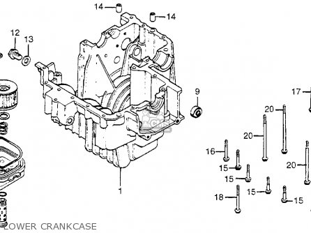 Honda Cm400t 1981 Usa Lower Crankcase