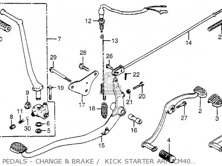 Honda Cm400t 1981 Usa Pedals - Change  Brake    Kick Starter Arm Cm400c t
