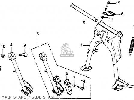 honda cm450a hondamatic 1982  c  usa parts list