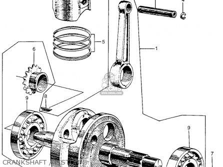 Honda Cm91 1966 Usa Crankshaft   Piston