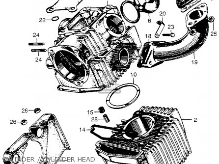 Honda Cm91 1966 Usa Cylinder   Cylinder Head