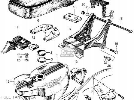 Honda Cm91 Honda 90 1966 Usa Fuel Tank   Seat