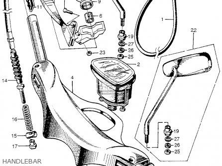 Honda Cm91 Honda 90 1966 Usa Handlebar