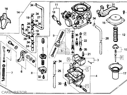 Honda Cmx250c Rebel 250 1986 Usa Carburetor