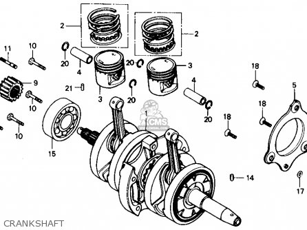 Honda Cmx250c Rebel 250 1986 Usa Crankshaft
