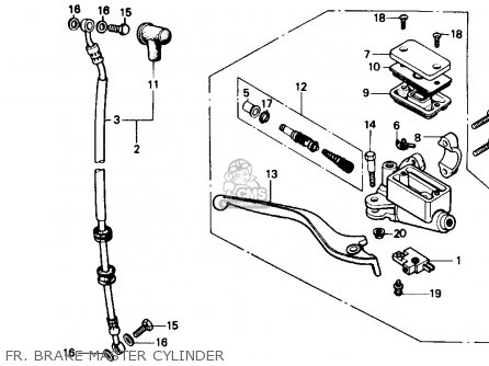 Honda Cmx250c Rebel 250 1986 Usa Fr  Brake Master Cylinder